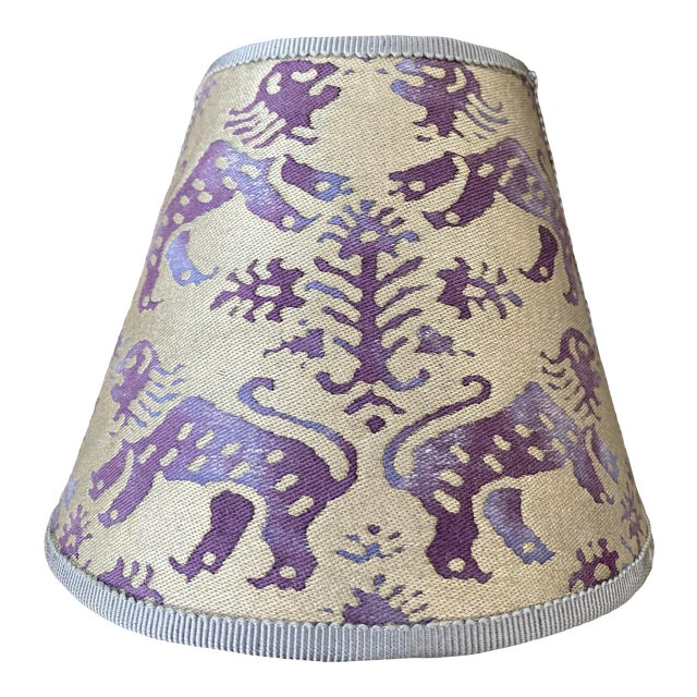 Contemporary Purple Fortuny Night Light For Sale