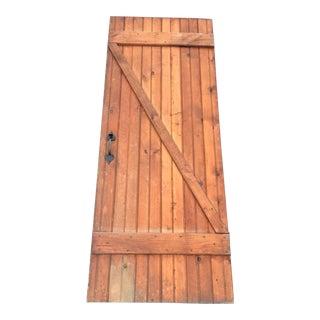 Authentic Colonial Solid Wood Interior Batten Door For Sale