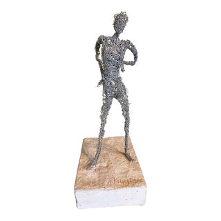 Wire Figurative Sculpture, Signed Kujawa, France, 1970s For Sale