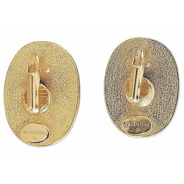 Modern 1980s Valentino Faux-Shell Earrings For Sale - Image 3 of 4