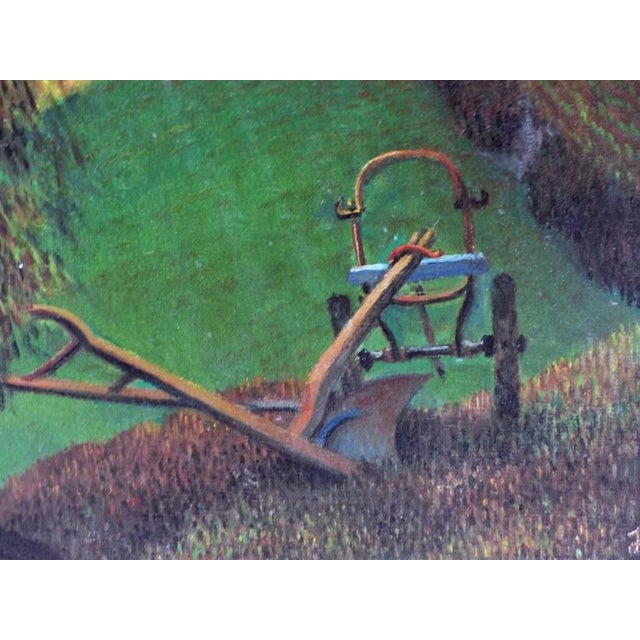 1950s French Henri Therme Landscape Oil Painting For Sale In Miami - Image 6 of 11