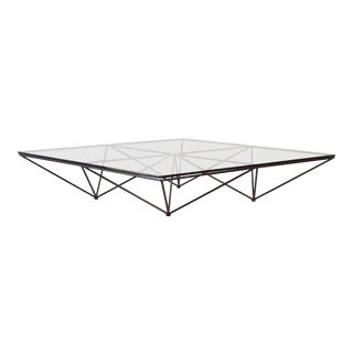 Paolo Piva Alanda Geometric Glass Coffee Table for B&b Italia, 1980s, Italy For Sale