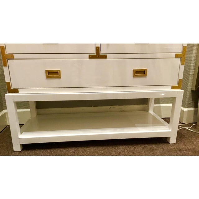 Bungalow 5 Julian White Lacquered Console For Sale In Atlanta - Image 6 of 8
