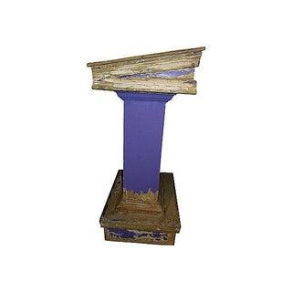 Vintage Handmade Rustic Outdoor Lectern