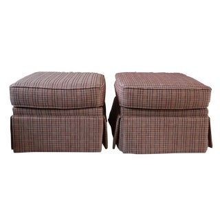 Modern Lee IndustriesPollack Fabric Ottomans - A Pair For Sale