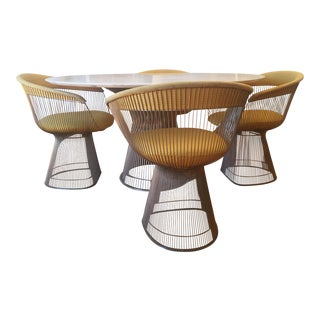 Vintage Warren Platner Designed Dining Table & Chairs For Sale