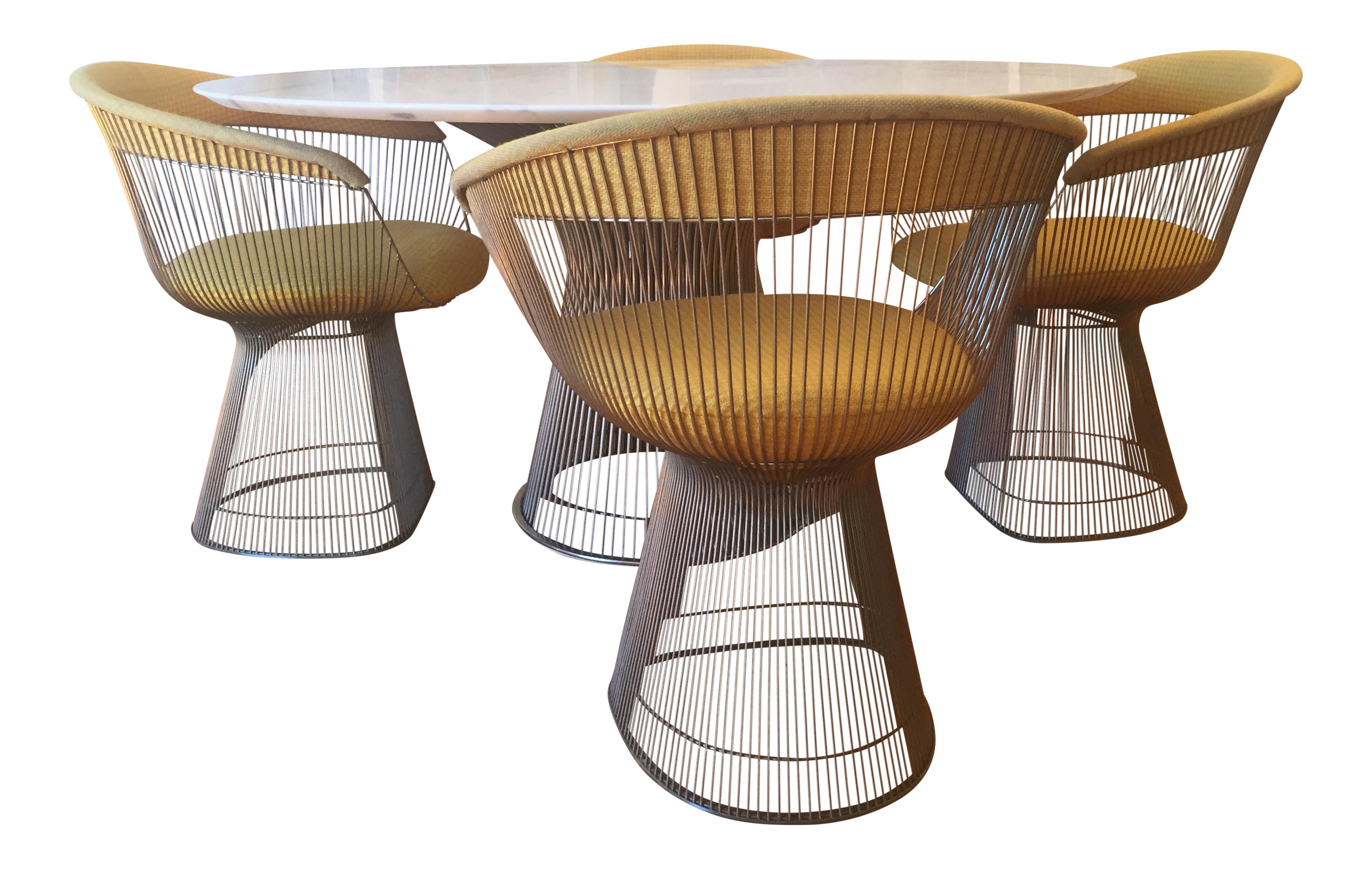 Vintage Warren Platner Designed Dining Table U0026 Chairs   Image 1 Of 10