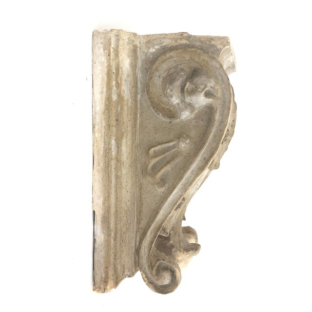 Antique French Cast Plaster Corbel For Sale - Image 4 of 6