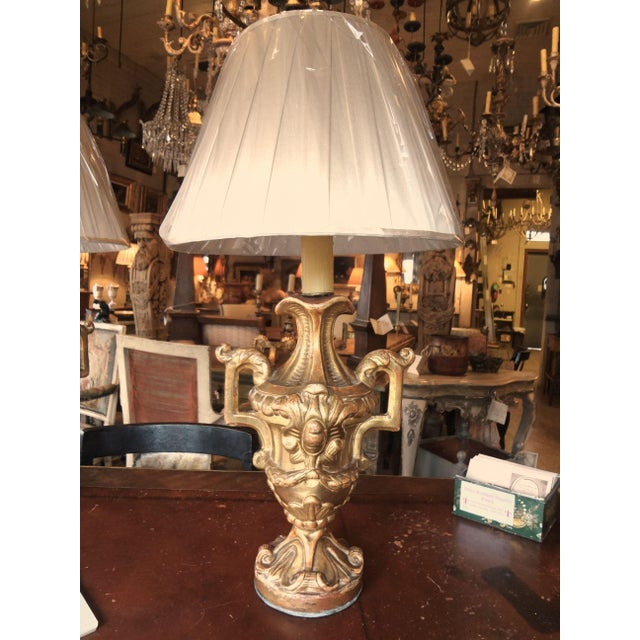 Italian Gilt Wood Lamps, Pair For Sale - Image 11 of 11
