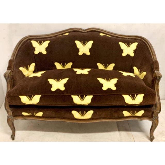 Brown Meyer Gunther Martini French Style Settee For Sale - Image 8 of 8