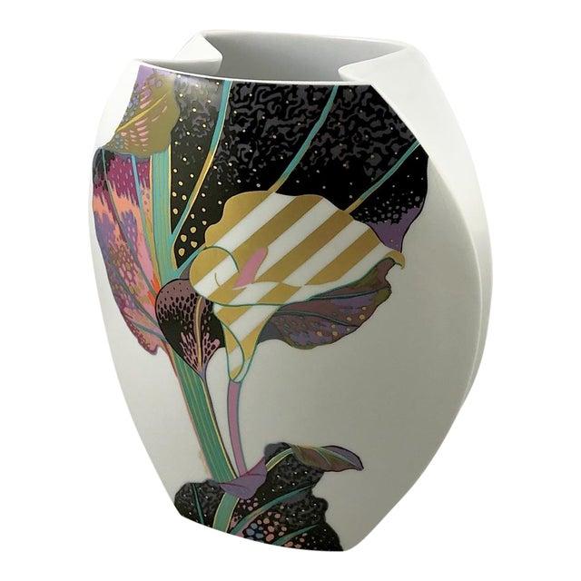 Rosenthal Porcelain Brigitte Doege Calla Lily Vase For Sale