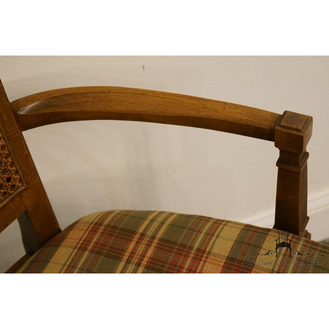 Late 20th Century Vintage Thomasville Furniture Cellini Collection Cane Back Dining Arm Chair For Sale In Kansas City - Image 6 of 13