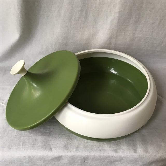 Vintage Green Lidded Canister - Image 4 of 5