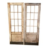 Image of White French Style Doors - A Pair For Sale