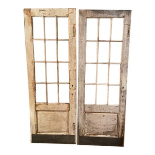 White French Style Doors - A Pair For Sale