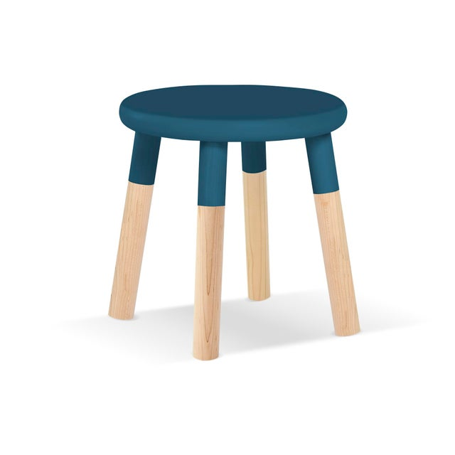 Not Yet Made - Made To Order Peewee Kids Chair in Maple With Deep Blue Finish For Sale - Image 5 of 5