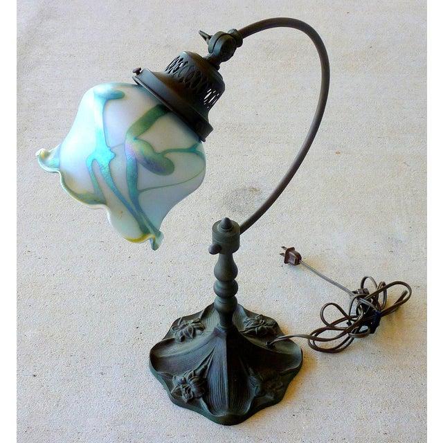 Bronze Art Glass Lamp - Image 2 of 7