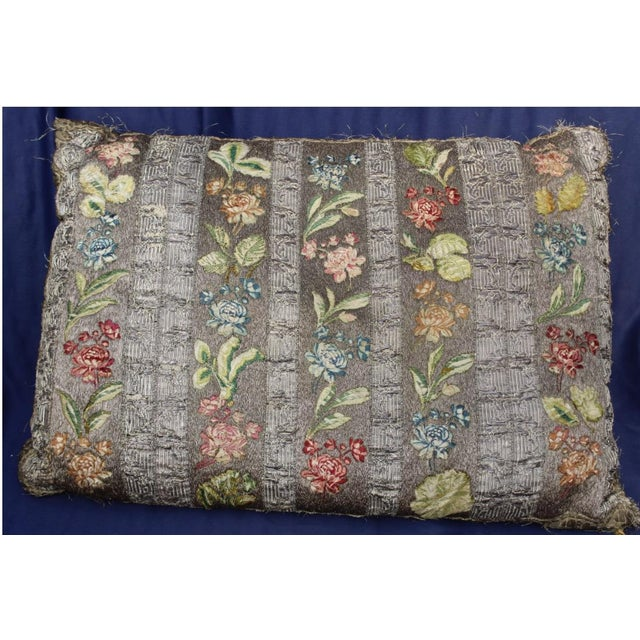 Mid 18th Century 18 C. French or Italian Silk Pillow For Sale - Image 5 of 5