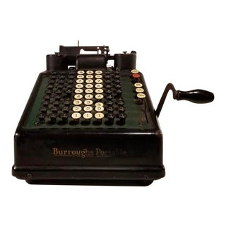 Vintage Burroughs Adding Machine For Sale