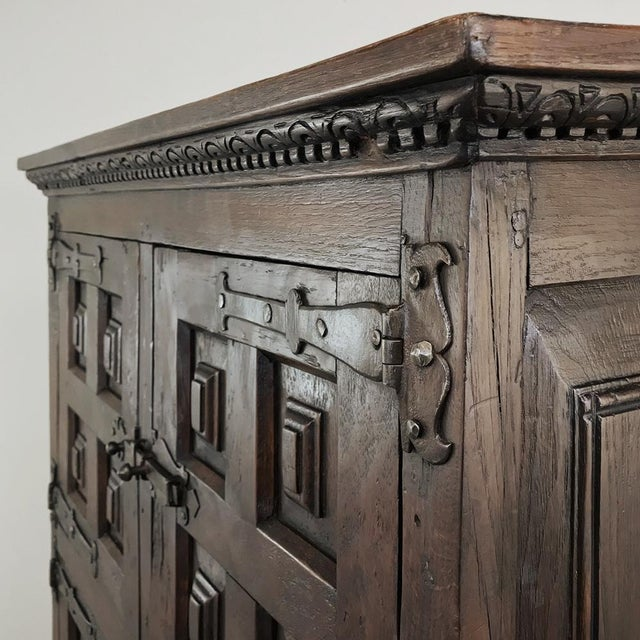 Brown 19th Century Spanish Cabinet For Sale - Image 8 of 13