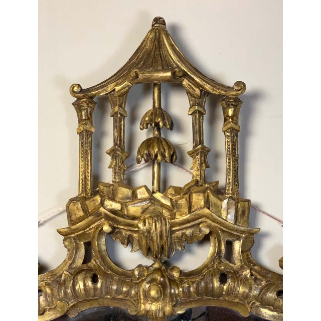 Gold George II Chinese Chippendale Wall Mirror For Sale - Image 8 of 13