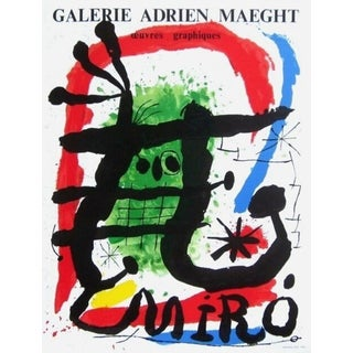 (after) Joan Miró Miro Oeuvres Graphiques, 1965 Galerie Maeght Exhibition Poster 1965 For Sale