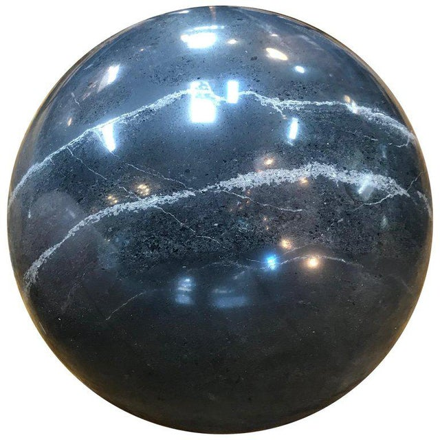 2010s Decorative Dark Grey Marble Sphere, Italy For Sale - Image 5 of 5
