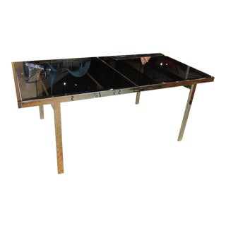 Mid-Century Modern Milo Baughman Brass and Glass Dining Table