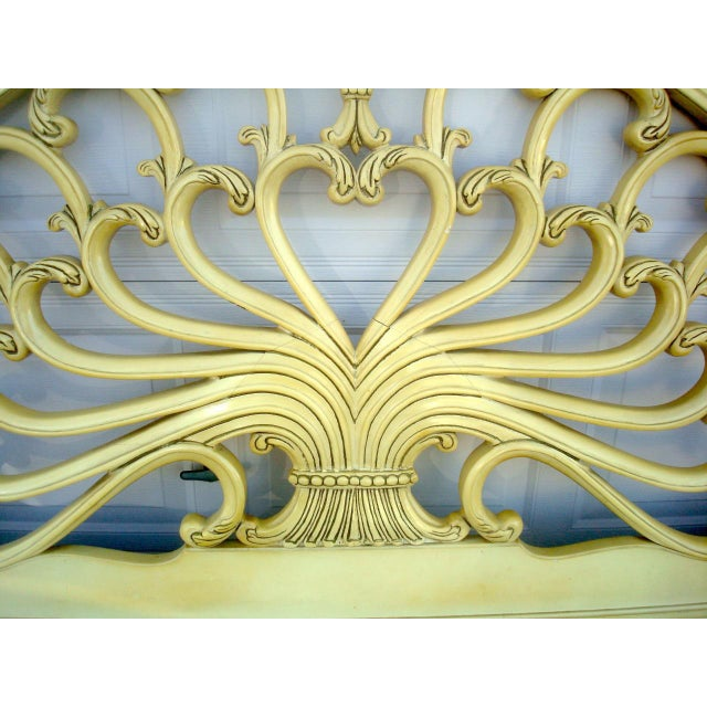 Genova Furniture Co. French Provincial Headboard For Sale In Tampa - Image 6 of 7