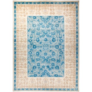 """Eclectic, Hand Knotted Area Rug - 9' 10"""" X 13' 9"""" For Sale"""