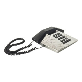 Telequest Silver Prism Telephone For Sale