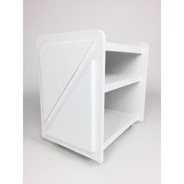 White Post-Modern Bar Cart For Sale - Image 5 of 8