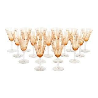 Crystal Wine Glasses - Set of 16