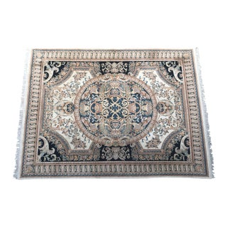 "Neoclassical Hand Knotted Wool Rug - 8'11"" x 11'11' For Sale"