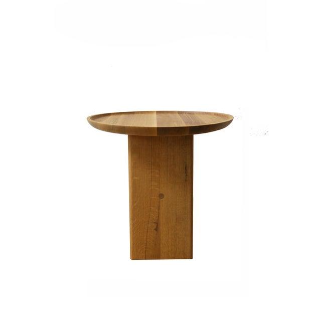 Bauhaus Slant Wooden Minimalist Table For Sale - Image 3 of 8