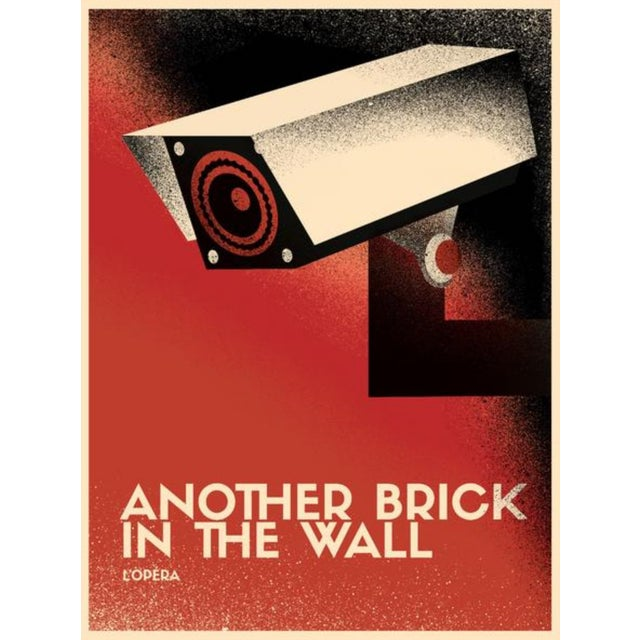 2017 Contemporary Pink Floyd Poster - Another Brick in the Wall Opera, Surveillance Camera For Sale