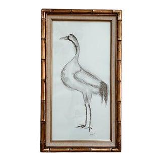 Elle Yount Original 'The Painted Heron' Artwork, Framed For Sale
