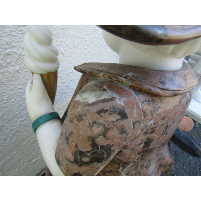 Granite Statue of a Boy Holding a Skateboard For Sale - Image 10 of 11