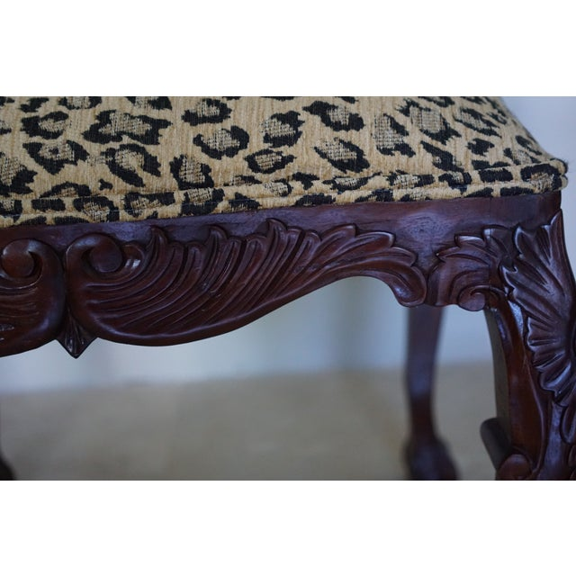 Mid-Century Leopard Stools - a Pair For Sale - Image 4 of 6