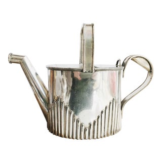 Victorian Era English Silver Plated Watering Can For Sale