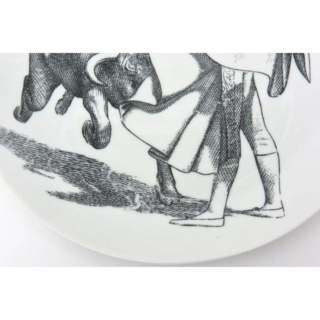 Vintage Italian Piero Fornasetti Porcelain Bullfight Dinner Plates - Set of 6 For Sale In Miami - Image 6 of 11