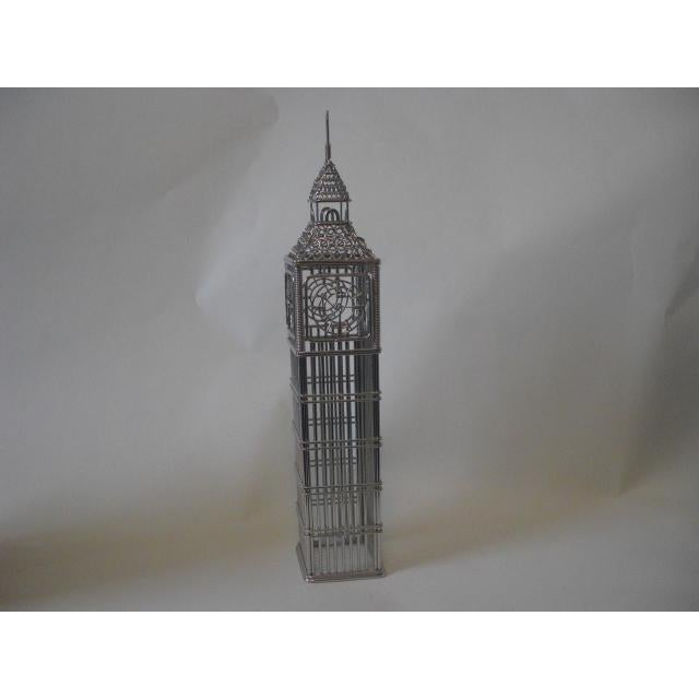 Wire Big Ben Clock Tower Model For Sale - Image 5 of 5