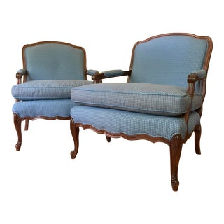 Sam Moore French Country Lounge Chairs - a Pair For Sale