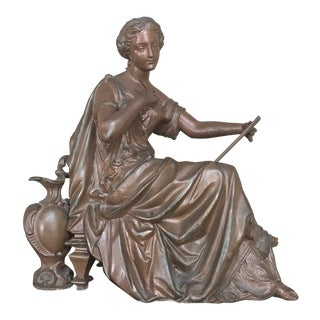19th Century French Spelter Statue For Sale