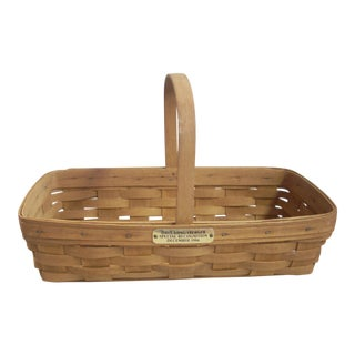 1980s Vintage Longaberger Basket For Sale