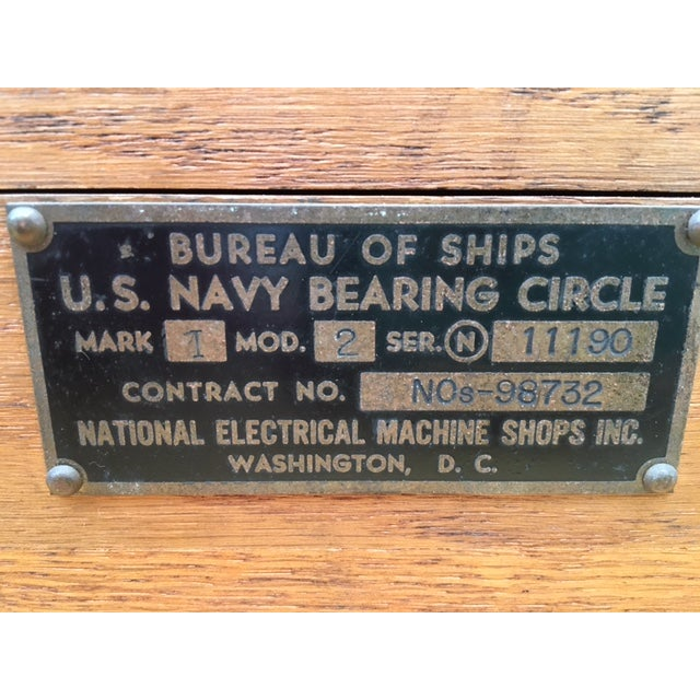 Bureau of Ships US Navy Bearing Circle W/Maps 1942 - Image 5 of 10