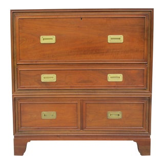 Baker Milling Road Campaign Style Secretary Desk For Sale