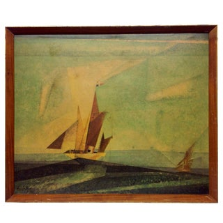 Vintage Western Sea Lithograph by Lyonel Feininger For Sale