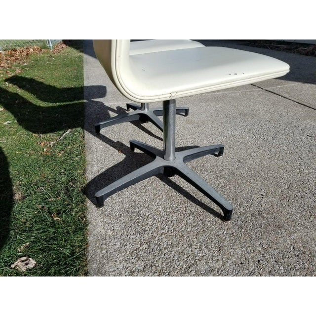 MCM Chromcraft Vinyl Swivel Chairs - a Pair For Sale - Image 9 of 11