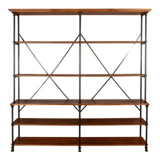 20th Century French Industrial Library Shelving For Sale